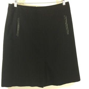 Banana Republic Skirt Black Wool Blend